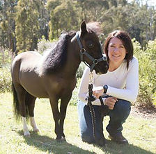 Equestrian coach and educator Emma Caldwell with Mirror.